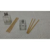 Frasco Difusor Aromatizador Ambientes 30 Ml Vidro Quadrado