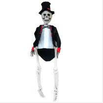 Esqueleto Noivo C/roupa Decoração Festa Halloween + Brinde