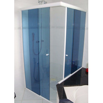 Kit Para Box De Banheiro Em L 90 X 90 8 Cores S/ Vidro