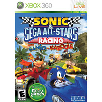 Jogo X360 Sonic & Sega All-stars Racing Midia Física