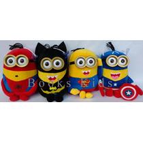 Minions Avengers Super Heróes Pelúcia Musical