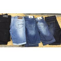 Kit Com 3 Bermudas Atacado Jeans Sarja Qualidade 36 Ao 50