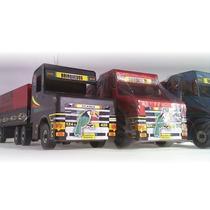 Caminhão Scania Mine Bi-trem Madeira 2017 Brinquedo Infantil