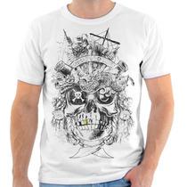 Camiseta Camisa Swag Gangster Caveira Pirata Mexicana 04