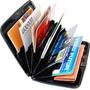 Carteira Porta Cartão Visita Crédito Cnh Alumínio Masculina