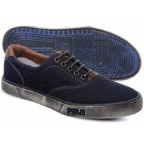 Tênis Polo Sneaker Masculino Azul Marinho Manchado