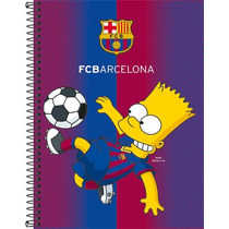 Caderno Tilbra 96fol Espiral Os Simpsons Barcelona 1 Matéria