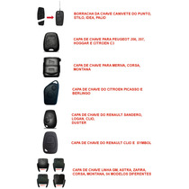 Capa De Chave Para Gm / Vw / Renault / Peugeot Mix 10 Peças
