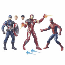 Marvel Legends Civil War 3 Pack - Iron Man Capitain America