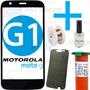 Tela Vidro Moto G 1 G1 + Adesivo + Cola Uv + Removedor + Fio