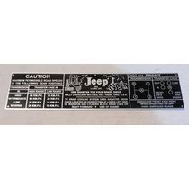 Plaqueta (placa) De Marcha Do Jeep Willys Cambio 3 Marchas
