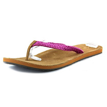 Reef Gypsy Macrame Canvas Thong Sandal