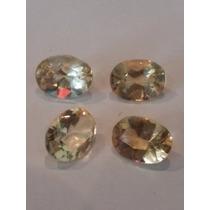 Lote Com 4 Citrinos De 8x6mm, 4 Ct Total - Gemas, Pedras