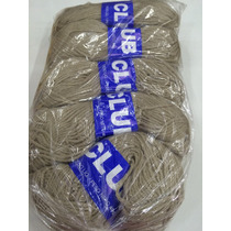 Lã Club Cinza 40g Para Tricô Crochê (pacote C/ 5 Novelos)