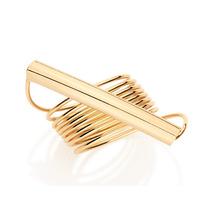 Anel Espiral Tubo F. Ouro 18k Feminino Joia Rommanel 511945
