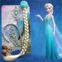 Kit Princesa Frozen Elsa C/ Trança Azul