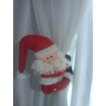 Prendedor De Cortina Natal Papai Noel Natalino