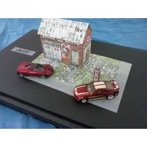 Diorama Para Hot Wheels 1:64 Posto De Gasolina