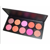 Paleta Blush 10 Cores Importada Estojo Maquiagem #r2by
