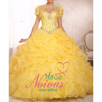 Pronta Entrega Vestido Debutante Amarelo