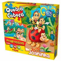 Quebra Cabeça Puzzle Progressivo Joaninha 30 45 56 Peças