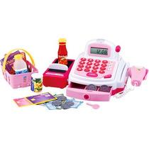 Caixa Registradora Infantil Com Som E Luz Rosa Promoção