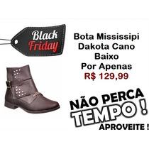 Black Friday Bota Mississipi Cano Baixo Dakota