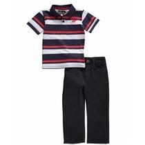 Roupa Infantil Camisa Pólo+calça Jeans Para Meninos