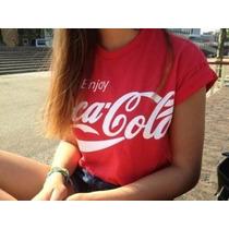 Cropped Feminina Coca Cola, T-shirt Número Feminina 2016