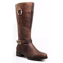 Bota Montaria Feminina Rodeio Couro Legitimo Capelli Boots