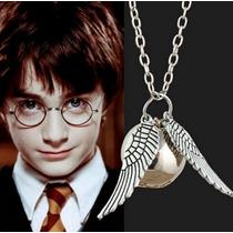 Colar Harry Potter Pomo De Ouro Quadribol - Pronta Entrega