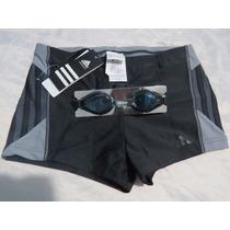 Kit Natação Adidas Shorts Sunga Mais Óculos Frete Grátis Top