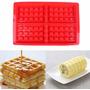 Forma Para Fazer Waffles Em Silicone  - Não Precisa Untar!