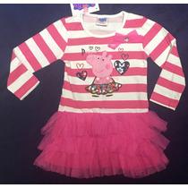 Vestido Infantil Importado Peppa Pig Pronta Entrega