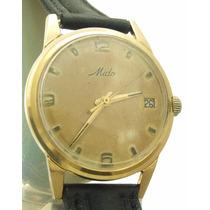 Relógio Mido Masculino Com Calendário Em Ouro 18k J10852