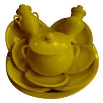 Jogo De Ibá Médio Liso - Amarelo