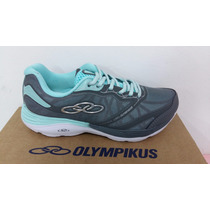 Tenis Feminino Olympikus 139 Motion Running Chumbo