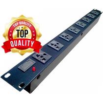 Régua 8 Tomadas Rack 19 - 2200watts Padrão Antigo Premium