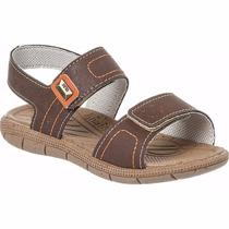 Sandália Papete Infantil Menino Klin 2 Velcros