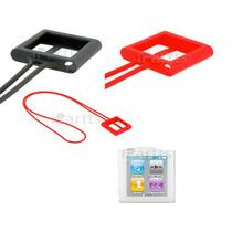 Capa Cordão De Silicone Pescoço P/ Ipod Nano 6ª