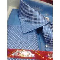 Camisa Social Masc.importada (abotoadura,gravata,prendedor)