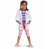 Fantasia Da Doutora Brinquedos Disney Jr - Tam P (3 A 4 Anos