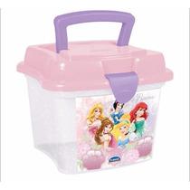 Kit C/ 2 Lancheira Sanduicheira Minibox Princess Com Alça 1l