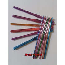 Kit C/14 Agulhas De Metal Coloridas