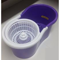 Spin Mop Inox - 360 - Balde Com Esfregão E Rolamento