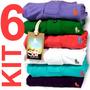 Kit 6 Camisas Polo Originais, Qualidade De Importadas S&f