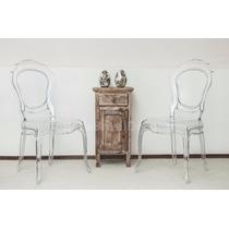 Cadeira Belle Louis Xv Policarbonato Transparente Tramontina