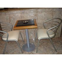 Mesa Angelin Com Tampo Granito 2 Cadeiras Poltronas