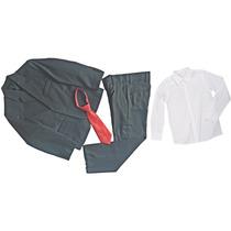 Terno Microfibra Infantil Completo + Gravata Camisa 2 Ao 16