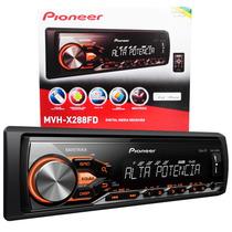 Auto Rádio Mp3 Pioneer Mvh-x288fd C/ Saída Amplificada Usb